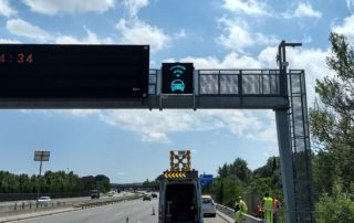 New road sign elaborated by Inframix